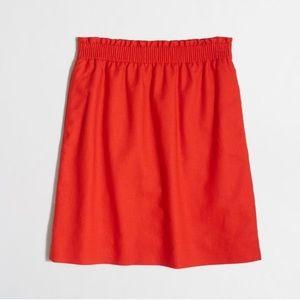 J. Crew Red Sidewalk Mini Skirt